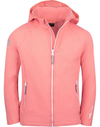 Trollkids Girls Softshell-Jacket with hood KVALVIKA coral rose 329-218