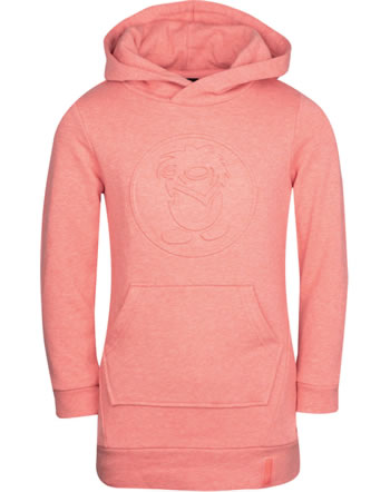 Trollkids Girls Sweat-Dress with hood SANDEFJORD coral rose 337-218