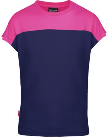 Trollkids Girls T-Shirt Kurzarm BERGEN T navy/magenta 339-114