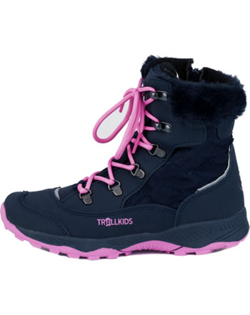 Trollkids Girls Winter Boots HEMSEDAL navy/magenta 192-114
