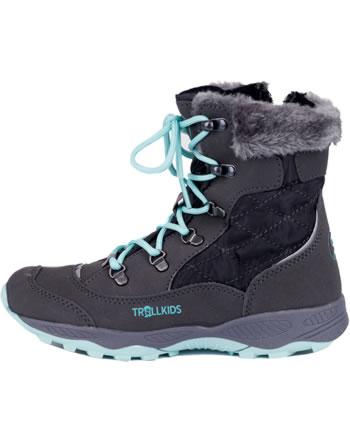 Trollkids Girls Winter Boots HEMSEDAL steel grey/mint 192-609