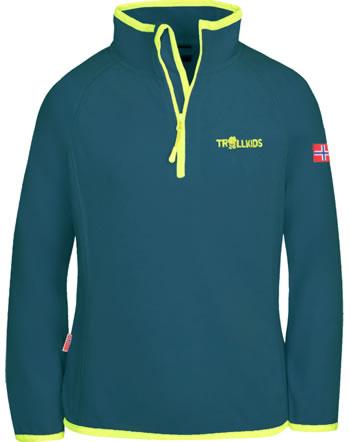 Trollkids Half-Zip Fleece-Pullover KIDS NORDLAND petrol/lime 707-151