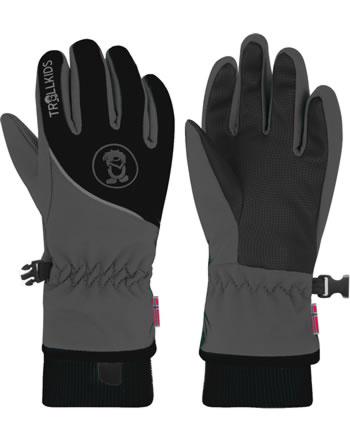 Trollkids Handschuhe Fingerhandschuhe KIDS TROLLTUNGA GLOVE antrac/black 931-603