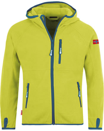 Trollkids Kids Fleece Jacket SANDEFJORD lime/petrol 260-702