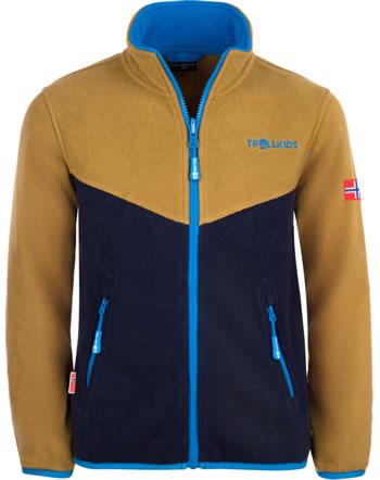 Trollkids Kids Fleece Jacket OPPDAL JACKET XT bronze/navy 414-805