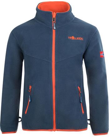 Trollkids Kids Fleece Jacket OPPDAL XT mystic blue/orange 414-142