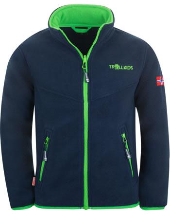 Trollkids Kids Fleece Jacket OPPDAL XT navy/bright green 414-100