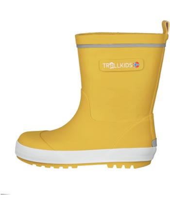 Trollkids Kids Gummistiefel LYSEFJORD golden yellow 471-703