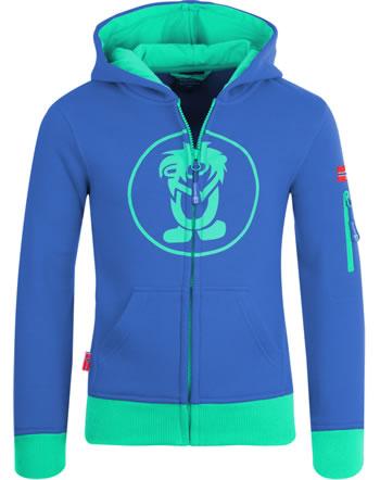 Trollkids Kids Jacket Sweatjacke SORTLAND midnight blue/dark mint 139-134