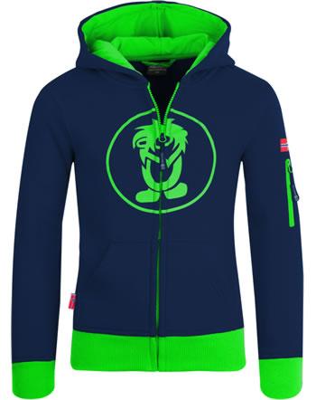 Trollkids Jacket Sweatjacke SORTLAND navy/green 139-100