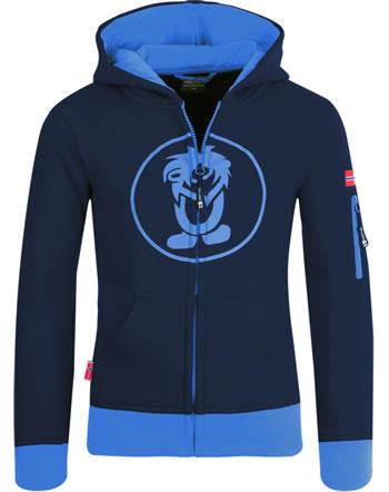 Trollkids Kids Jacket Sweatjacke SORTLAND navy/medium blue 139-117