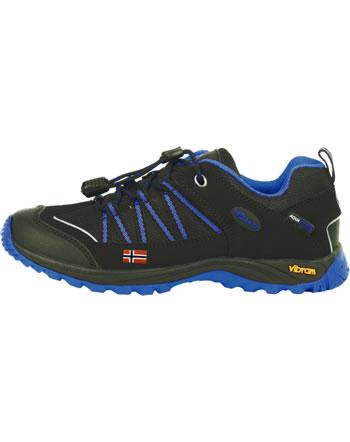 Trollkids Kids Hiking Shoes LOFOTEN HIKER LOW anthracite/med blue 255-605