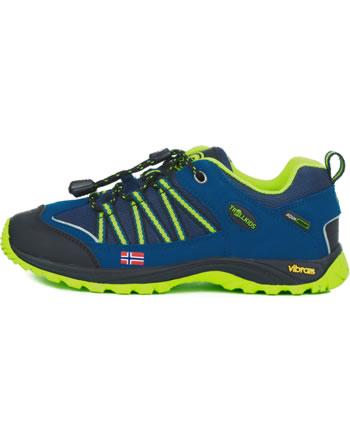Trollkids Kids Hiking Shoes LOFOTEN HIKER LOW blue/lime 255-106