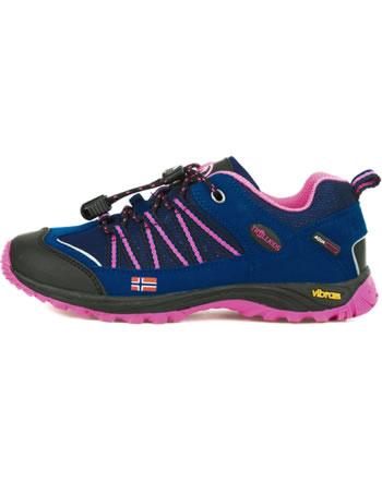 Trollkids Kids Hiking Shoes LOFOTEN HIKER LOW blue/magenta 255-114