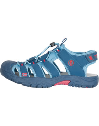 Trollkids Kids Sandal KVALVIKA dolphin blue/spicy red 194-152