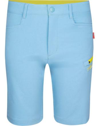 Trollkids Kids Shorts Softshell HAUGESUND dolphin blue/lime 330-158