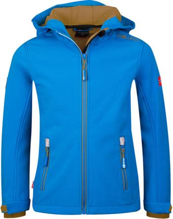 Trollkids Kids Softshell-Jacket TROLLFJORD azure blue/bronze 161-160