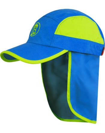 Trollkids Kids Summer cap mit Nackenschutz TROLL XT medium blue/l. green 943-106
