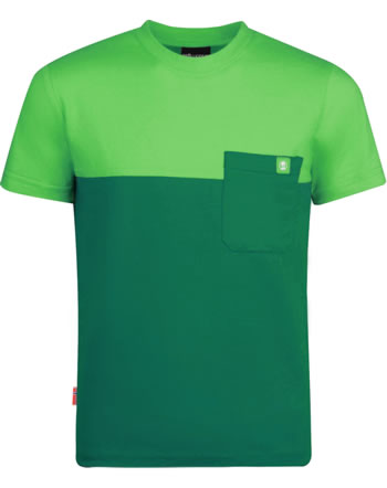 Trollkids Kids T-Shirt short sleeve BERGEN T dark green/light green 338-309