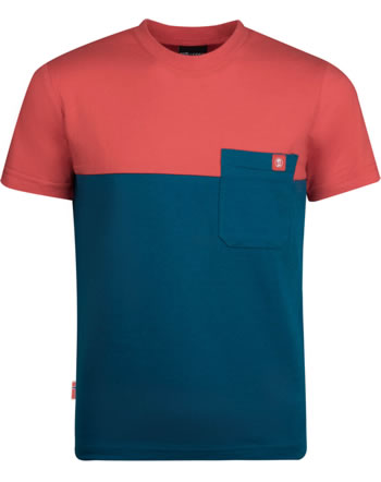 Trollkids Kids T-Shirt short sleeve BERGEN T petrol/spicy red 338-155