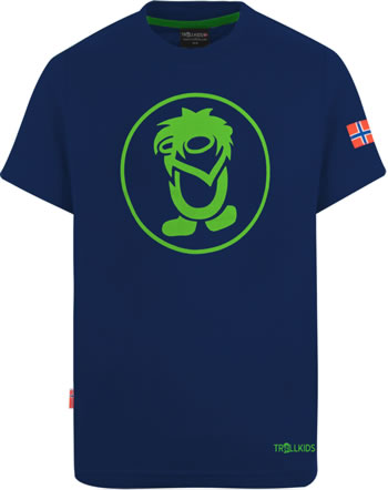 Trollkids Kids T-Shirt Kurzarm TROLL T navy/green 806-100