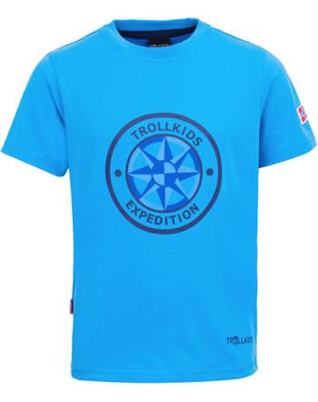 Trollkids Kids T-Shirt Kurzarm WINDROSE T medium blue 807-108