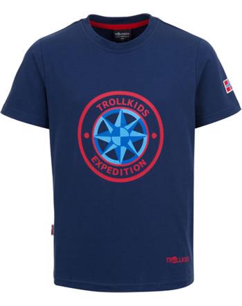 Trollkids Kids T-Shirt Kurzarm WINDROSE T navy 807-100