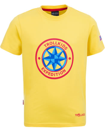 Trollkids Kids T-Shirt Kurzarm WINDROSE T yellow 807-700