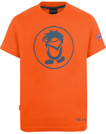Trollkids Kids T-Shirt Kurzarm TROLL T orange/mystic blue 806-701