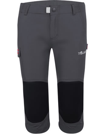 Trollkids Kids Trecking pants 3/4 HAMMERFEST dark grey 167-602