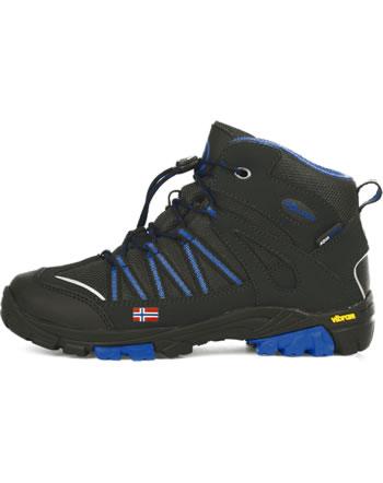 Trollkids Kids Hiking Shoes LOFOTEN HIKER MID anthracite/med blue 256-605