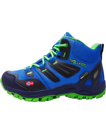 Trollkids Kids Hiking Shoes RONDANE HIKER MID medium blue/green 252-106