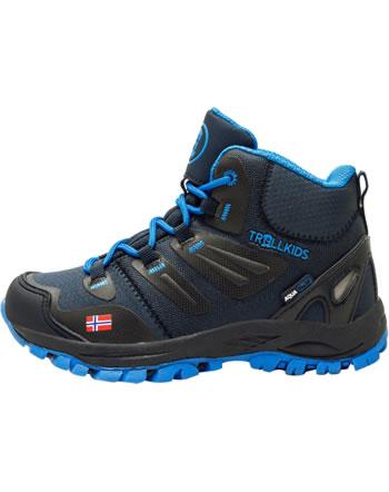 Trollkids Kids Hiking Shoes RONDANE HIKER MID navy/medium blue 252-117