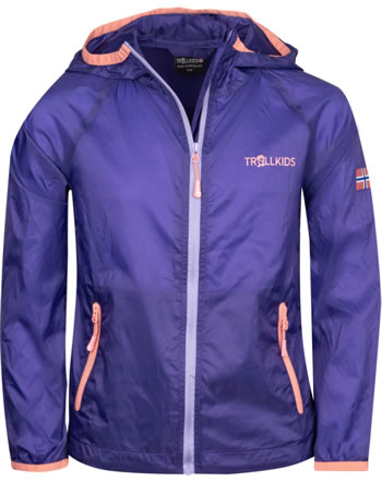 Trollkids Kids Running-Jacket FJELL dark purple/coral rose 909-154