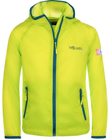 Trollkids Kids Windjacke Running Jacket FJELL lime/petrol 909-704