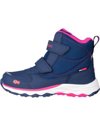 Trollkids Kids Winter Boots HAFJELL navy/pink 264-114