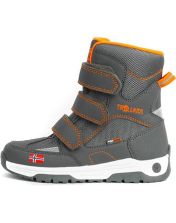 Trollkids Kids Winter Boots LOFOTEN anthracite/orange 159-612