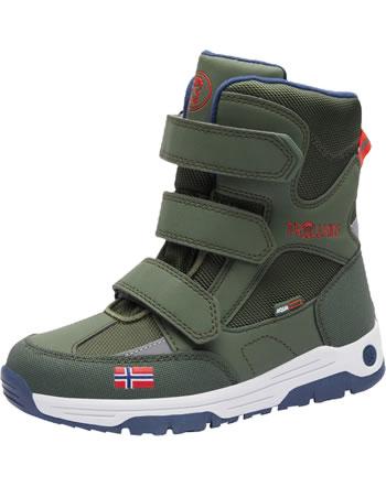 Trollkids Kids Winter Boots LOFOTEN forest green/flame orange 159-322