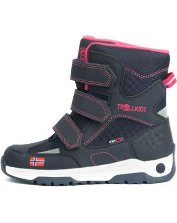 Trollkids Kids Winter Boots LOFOTEN navy/pink 159-114