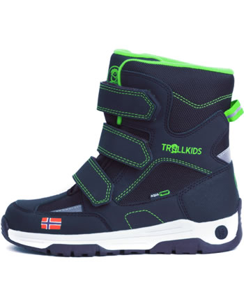Trollkids Kids Winter Boots LOFOTEN navy/viper green 159-100