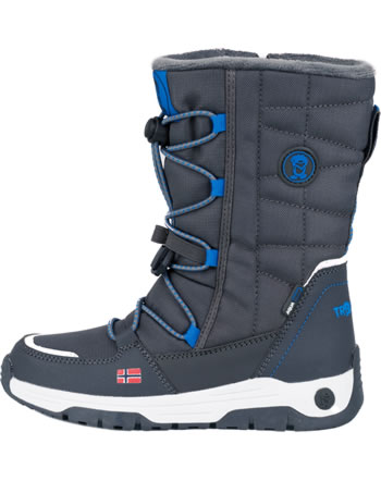 Trollkids Kids Winter Boots NORDKAPP anthracite/medium blue 184-605