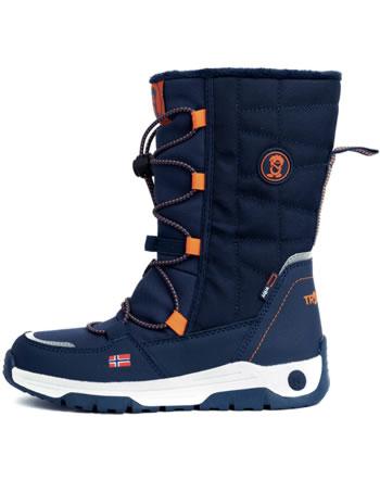 Trollkids Kids Winter Boots NORDKAPP mystic blue/orange 184-142