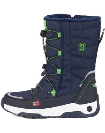 Trollkids Kids Winter Boots NORDKAPP navy/bright green 184-100