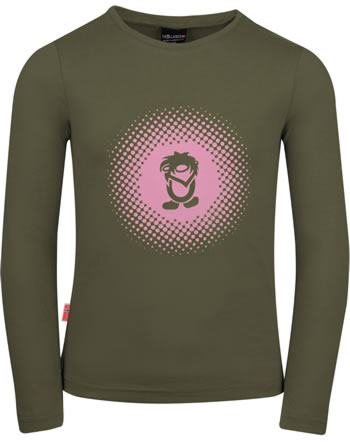 Trollkids Mädchen T-Shirt Langarm GIRLS POINTILISM d. olive/antique rose 345-114