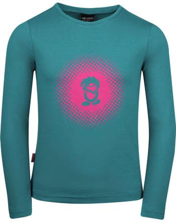 Trollkids Mädchen T-Shirt Langarm GIRLS POINTILISM smaragd/rubine 345-312