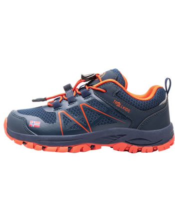 Trollkids Hiking Shoes KIDS SANDEFJORD HIKER LOW mystic blue/orange 253-142