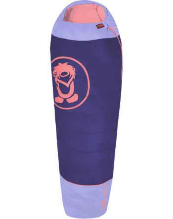 Trollkids Sleeping bag extendable FJELL DREAMER dark purple/coral rose 950-154