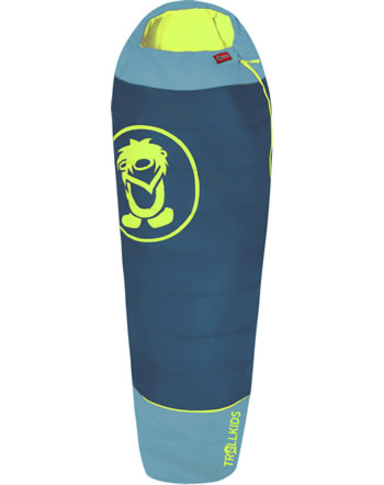 Trollkids Sleeping bag extendable FJELL DREAMER petrol/lime 950-151