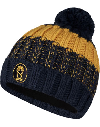 Trollkids Strick-Mütze KIDS TROLL BOBBLE CAP mystic blue/golden yellow 946-146