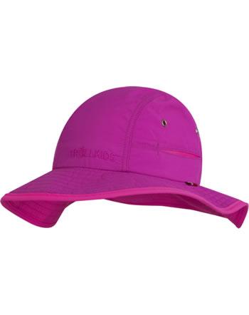 Trollkids Kids Summer Hat mit breiter Krempe TROLL dark rose/magenta 945-206